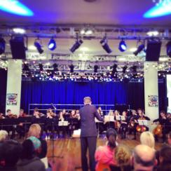 Performing 'Cascade' at the Strive Festival, Southbank with NYO