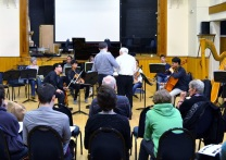 Rehearsing with Peter Maxwell Davies